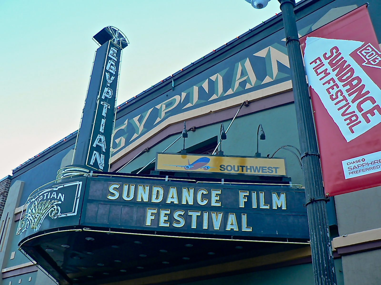 The Egyptian Theatre is the landmark venue of the Sundance Film Festival