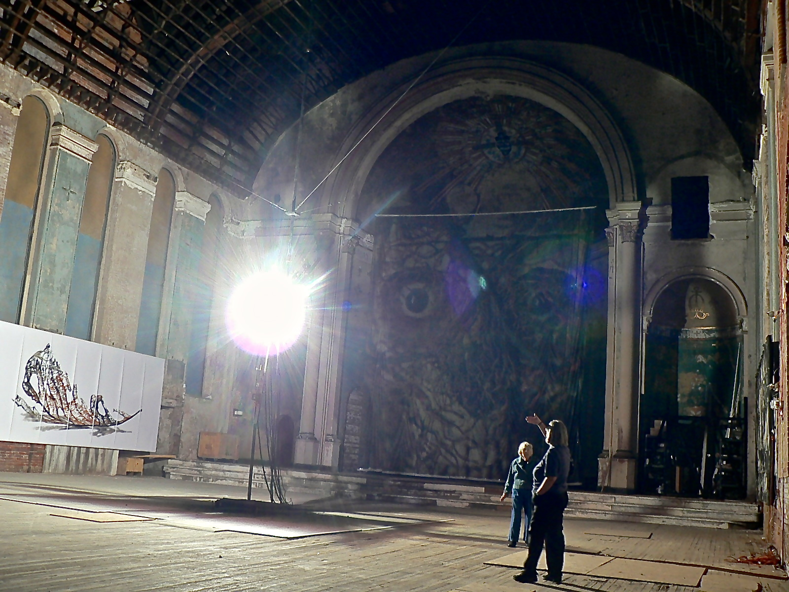 Artists Doug and Mike Starn bring pure illumination to an abandoned Cincinnati church