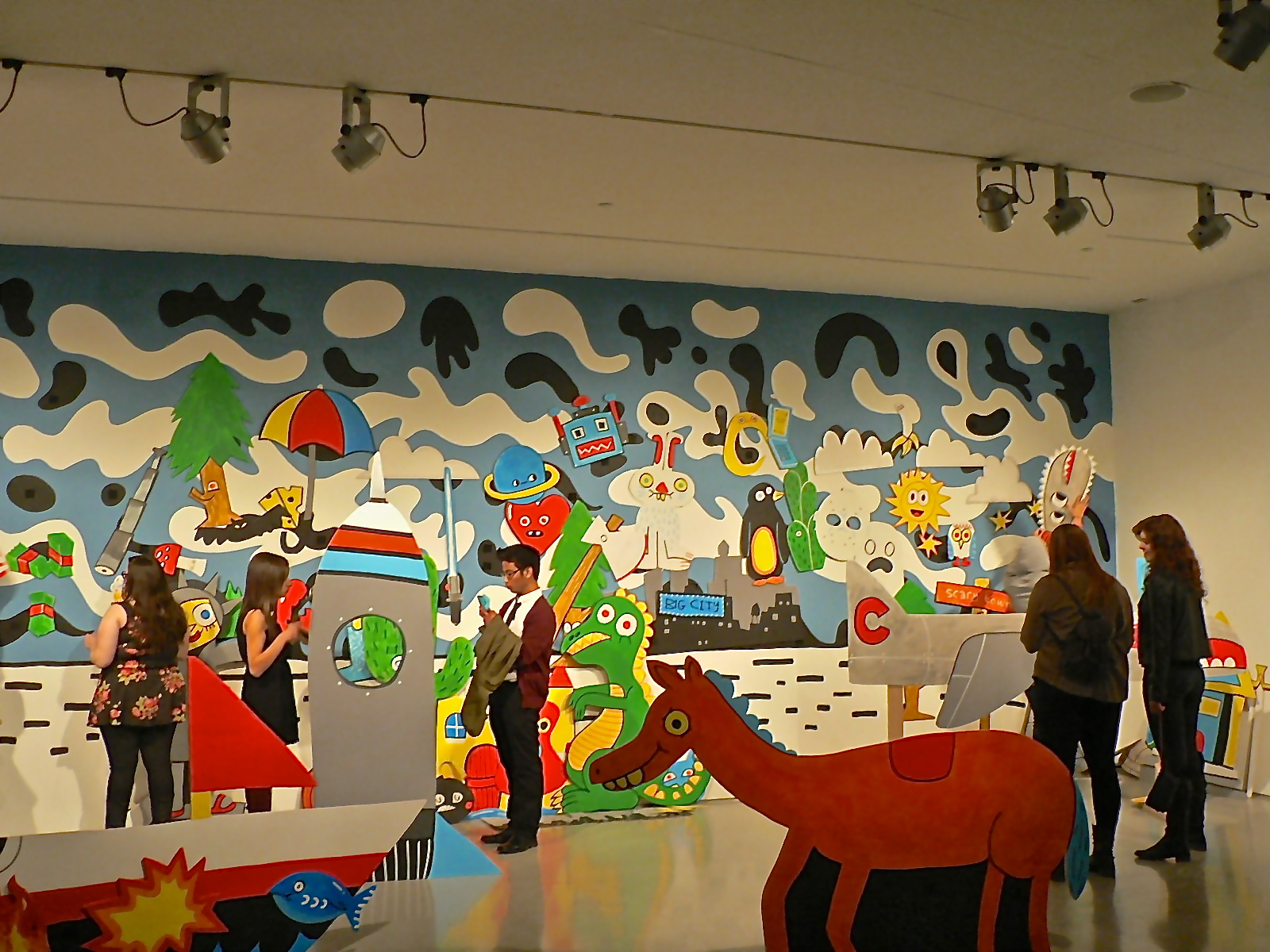 Artist Jon Burgerman creates film set-inspired installation for CAC Cincy