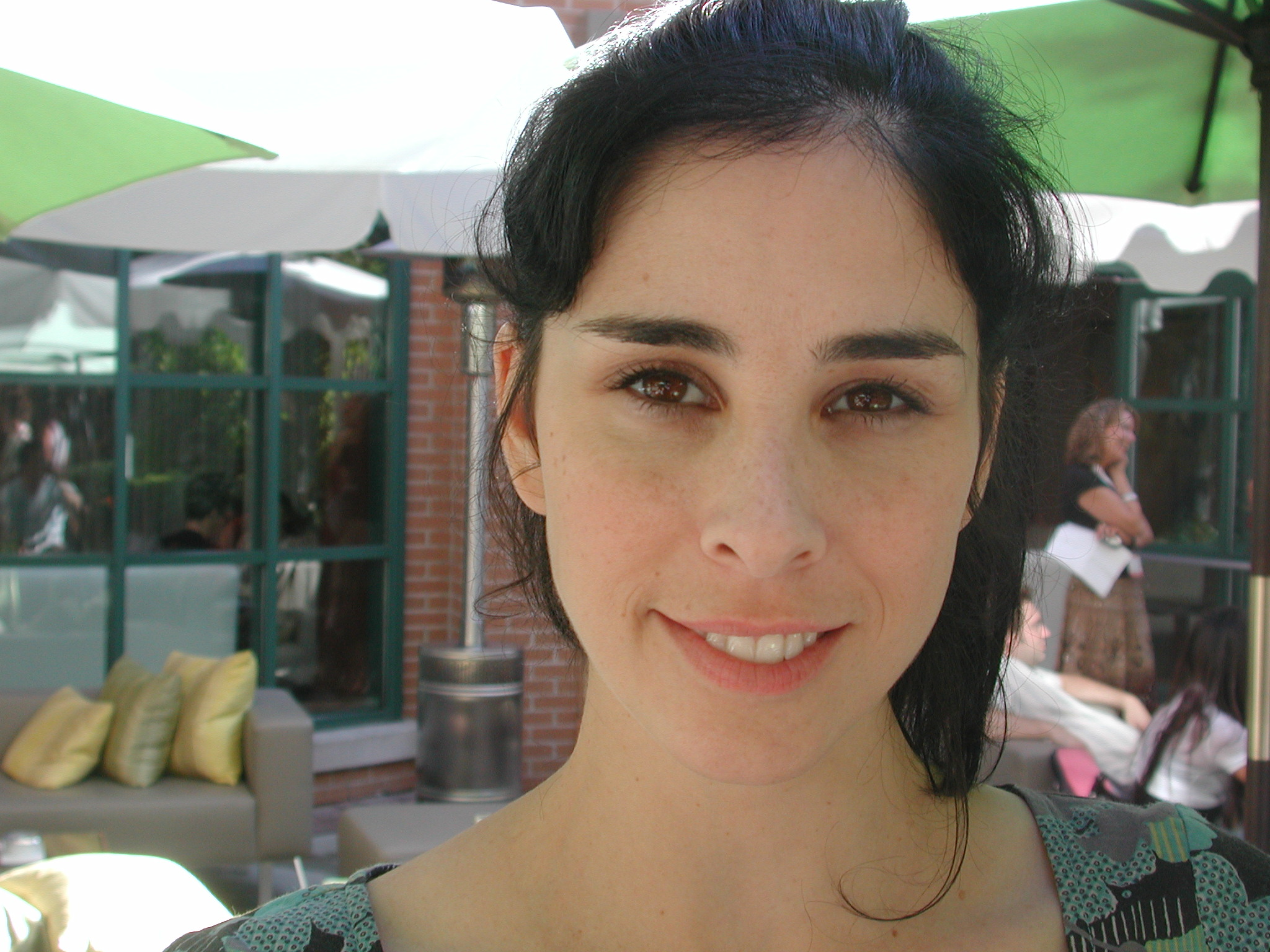 Creative conversation with actress and comic Sarah Silverman in the patio of Toronto's InterContinental Hotel