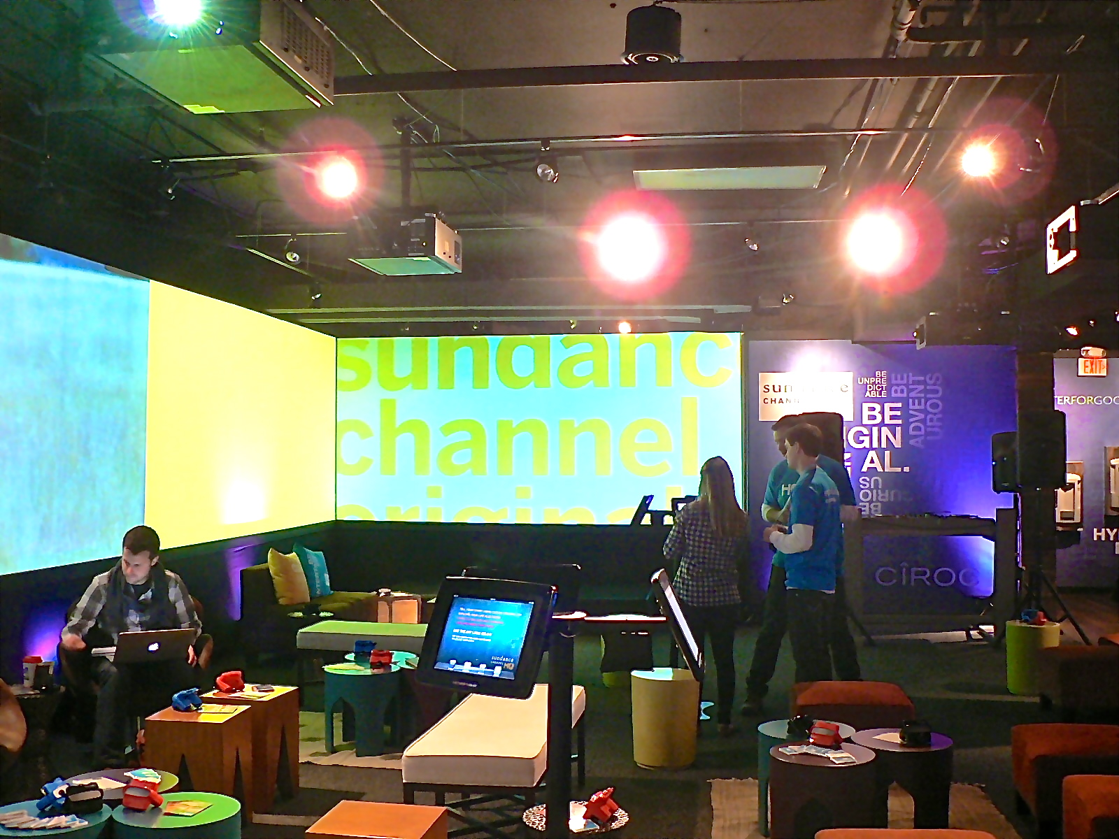 The Sundance Channel HQ is a creative hive during the 2013 Sundance Film Festival